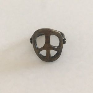 Jewelry - Molded Peace sign hammered bronze ring